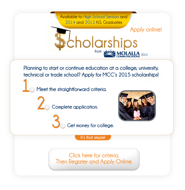 Apply for MCC's 2015 Scholarship.
