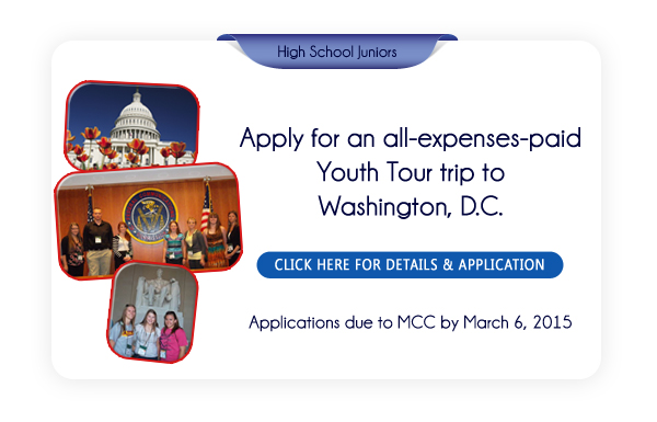 Apply for the 2015 Youth Tour.