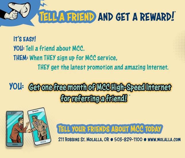 Tell a friend about MCC!*