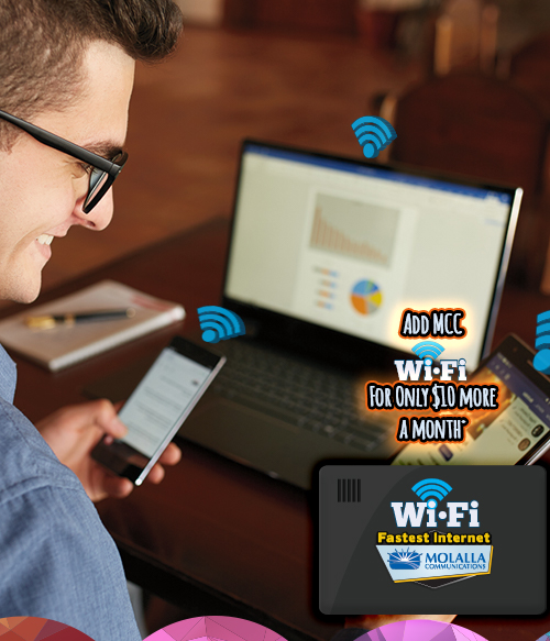 Add MCC Wi-Fi For Only $10 more a month.* Contact MCC at (503) 829-1100 for more details.