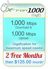 X-FON 1,000 Broadband Only